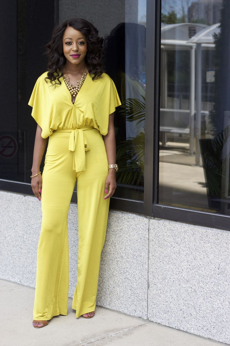 How to style your yellow wide leg jumpsuit for the summer