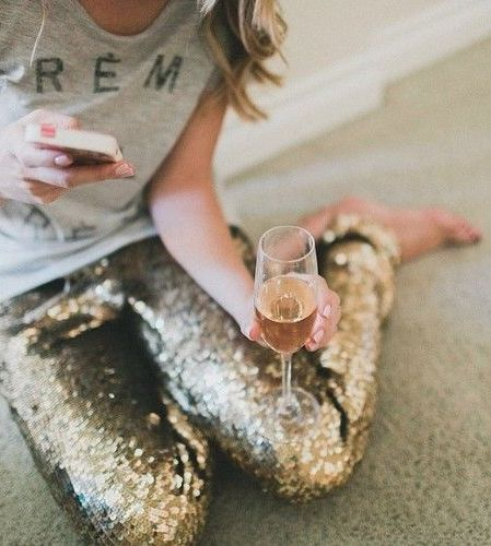LOVE this! champagne and sparkles | casual style in sequins | www.republicofyou.com.au
