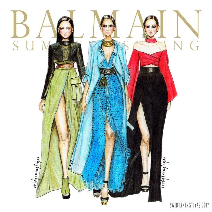 Balmain Spring Summer illustration by swidyaningtiyas