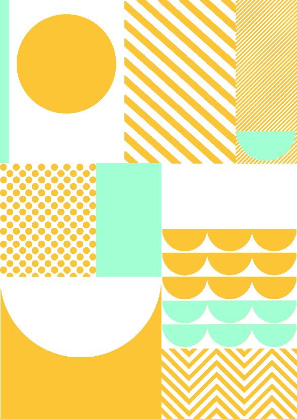 Sunny yellow and mint geometric pattern. | Textile Design; Graphic: Illustration: Print: Pattern | MINTY WARES | VIA: SUZANNE CLEO ANTONELLI : Photo