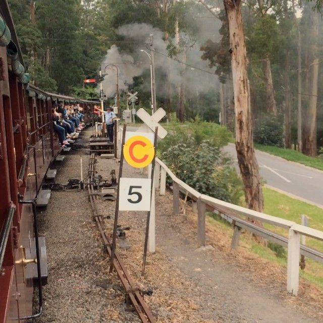 Video on board Puffing Billy steam train