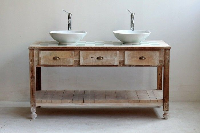 holzanrichte waschtisch selber bauen diy ideen badezimmereinrichtung