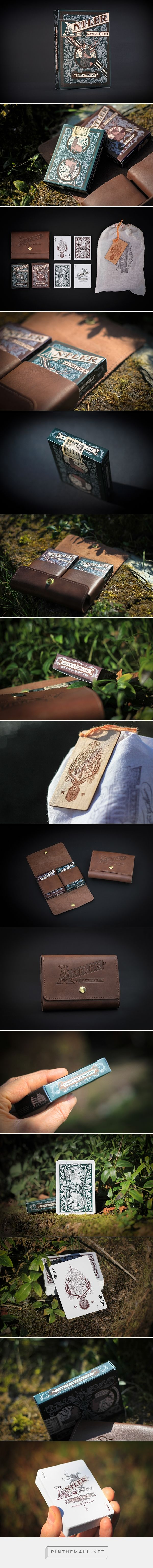 ANTLER PLAYING CARDS packaging designed by Ginger Monkey