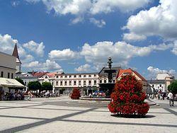 Town square in Karviná-Fryštát