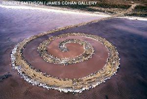 Earth art.Spirals Jetty, Smithson Spirals, American Art, Utah Spirals, Robert Smithson, Salts Lakes, Land Art, Jetty April, April 1970