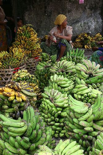 Plenty of banana bunches, Lombok, Indonesia