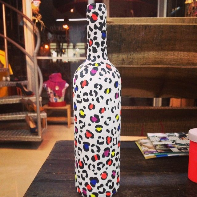 Botella decorada ,recicla! Divina creacion Cali,Colombia