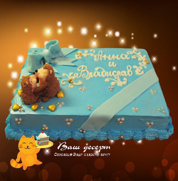 Прямоугольный торт из конфет