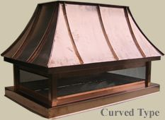 country french curved top chimney cap