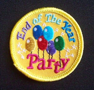 Girl Scout Fun Patches End of The Year Party New Iron On   eBay