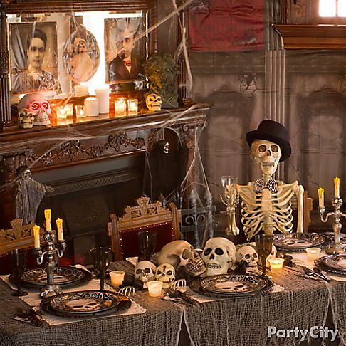 chilling and cheeky haunted house ideas party city halloween tablescary halloweenhalloween stuffholidays