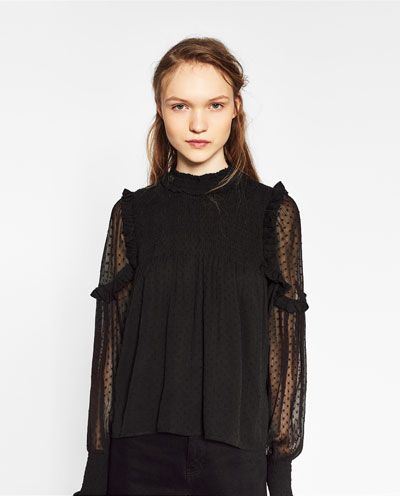 top en plumetis tout voir chemises femme zara france wish liste fw 2017 pinterest. Black Bedroom Furniture Sets. Home Design Ideas