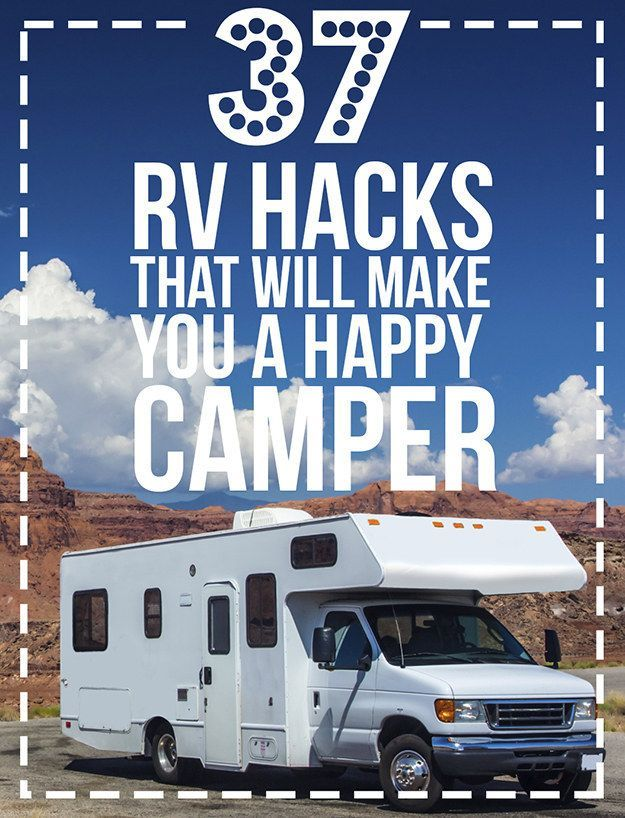 #RVing 37 RV Hacks That Will Make You A Happy Camper --Posted on Oct. 12, 2014