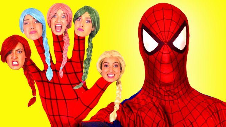 Frozen Elsa Gets RAINBOW HAIR SPELL w/ Spiderman Maleficent Joker Pink Spidergirl! Superhero Fun :)