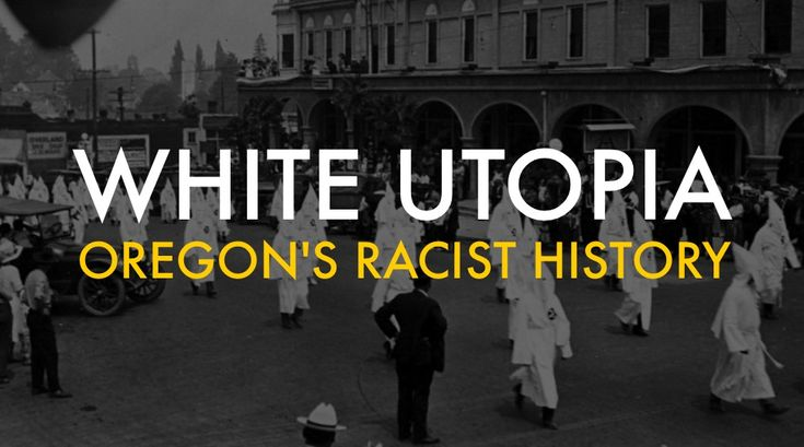 When Oregon was granted statehood in 1859, it was the only state in the Union admitted with a constitution that forbade black people from living, working, or owning property there. It was illegal for black people even to move to the state until 1926. Oregon's founding is part of the forgotten history of racism in the American west.