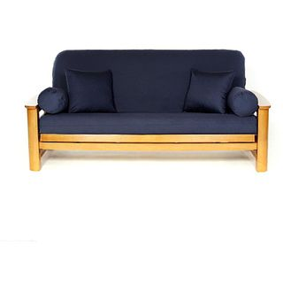 Navy Blue Full-size Futon Cover - Overstock™ Shopping - The Best Prices on Futon Covers
