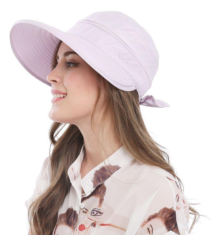 Bellady Women's Visor Hats UV Protection Summer Sun Hats Wide Brim Cap, Purple