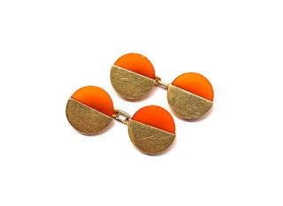 16 June 2016, Father's Day - Carnelian and gold 1920s cufflinks available from DB Gems  http://graysantiques.blogspot.co.uk/