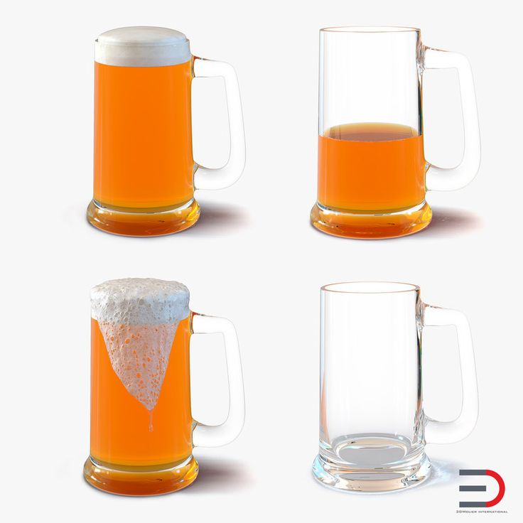 3D Beer Mugs Collection