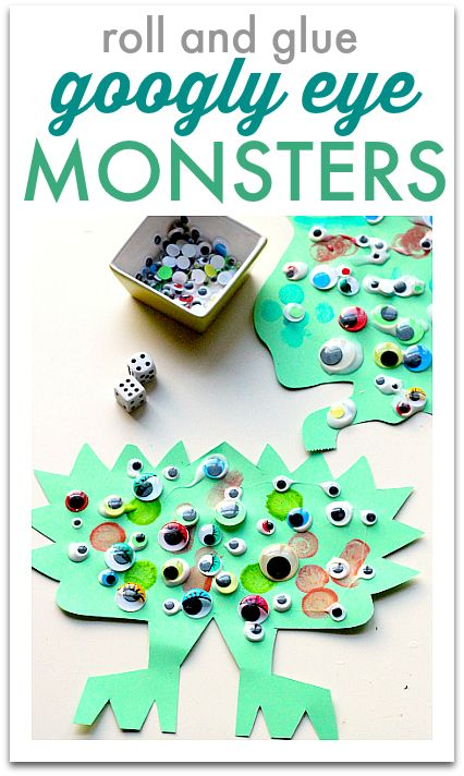 Monster math - fun for Halloween but can be done any time of year. Use math to create a rad monster craft.