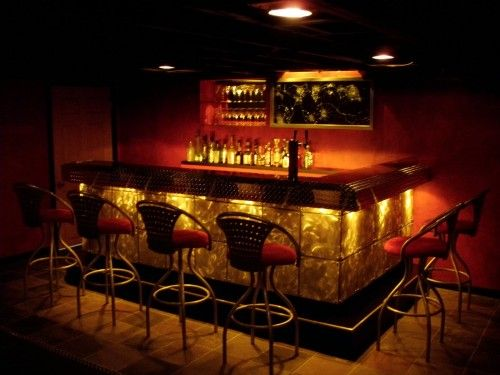 home bar idea could do a cheaper route with our rope lights very cool. Interior Design Ideas. Home Design Ideas