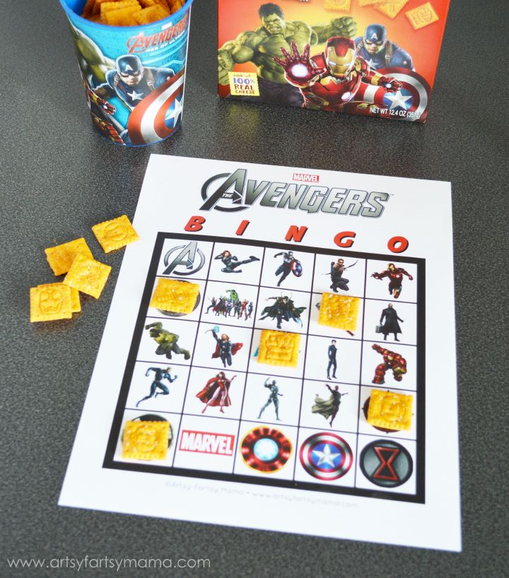 In anticipation of the new MARVEL's  The Avengers: Age of Ultron  movie coming to theaters on May 1st, I decided to create a free printable Avengers bingo game for you to play!! My daughter loves The Avengers, and has been having so much fun playing this bingo and seeing all her favorite superheroes!!     <em class=short_underline>  </em>    The Avengers bingo includes the entire Avengers team, Loki, and a few new characters a...