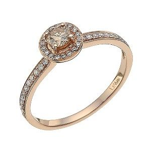 Le Vian 14 Carat Rose Gold Diamond & Chocolate Diamond Ring - Product number 9757899