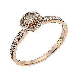 Le Vian 14 Carat Rose Gold Diamond & Chocolate Diamond Ring - Product number 9757899