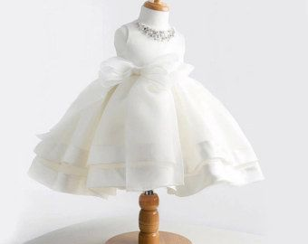 New white vintage baby girl baptism dress bow kids baby 1 year birthday dress for girls toddler princess tutu dress for special events