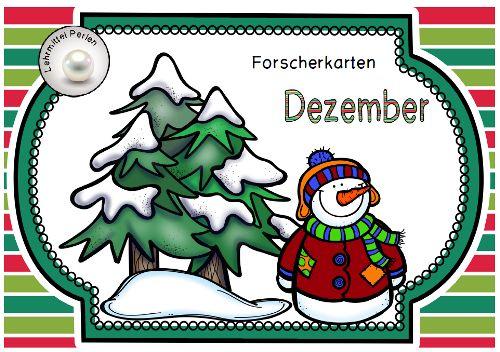 Forscherkarten Dezember