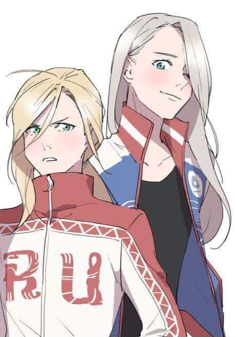#genderbender Yuri on Ice ❤️ en lo personal igual me gusta como se ven siendo chicas patinadoras