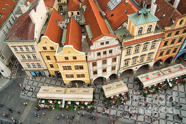 Prague from above - lovely old houses at Old Town Square, Czech Republic. Altstädter Ring, Prag. Click here to purchase a poster, art print or canvas print: http://matthias-hauser.pixels.com/featured/beautiful-prague-from-above-lovely-old-houses-matthias-hauser.html  30 days money back guarantee. (c) Matthias Hauser hauserfoto.com - Art for your Home Decor and Interior Design needs.
