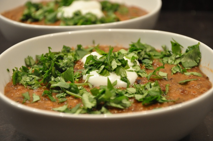 Black bean soup, Roasted red peppers and Red peppers on Pinterest