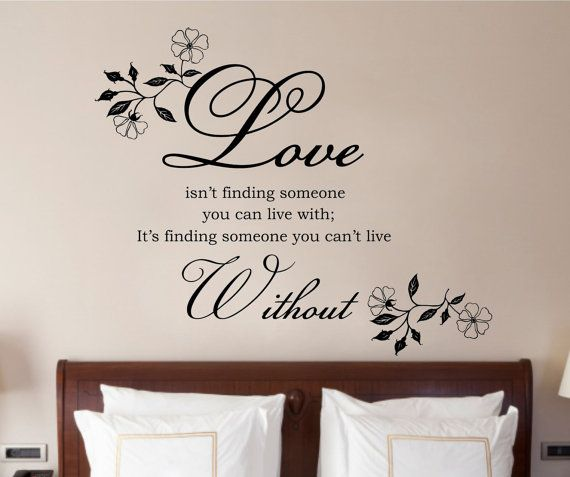Love Isnt Finding Quote, Vinyl Wall Art Sticker Decal Mural, Bedroom, Lounge 120cm Wide