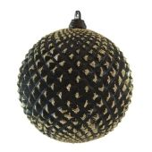 100mm Black matt w/ gold Pineapple ball  Code: BADE010BKGLDAPP