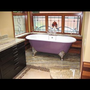 17 best images about baths on pinterest design for Purple glass bathtub