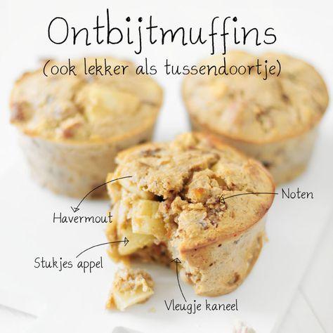 Havermoutmuffins met appel en kaneel   ontbijtmuffins Door Jennifer, 15 maart 2015