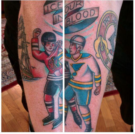 Great hockey tattoo!