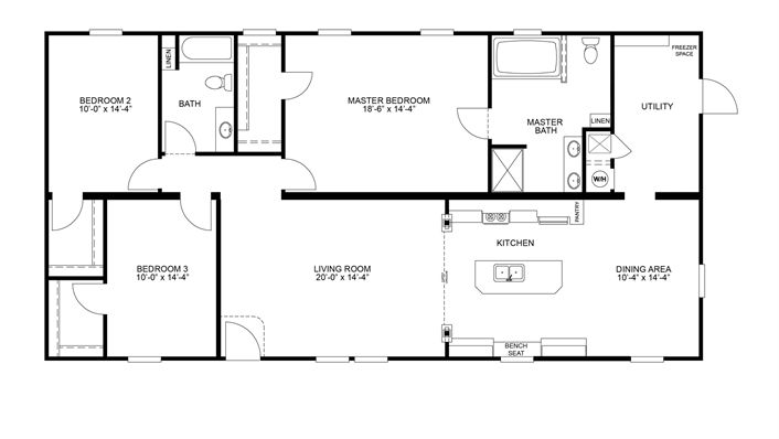 Clayton homes home floor plan manufactured homes for Large modular home plans