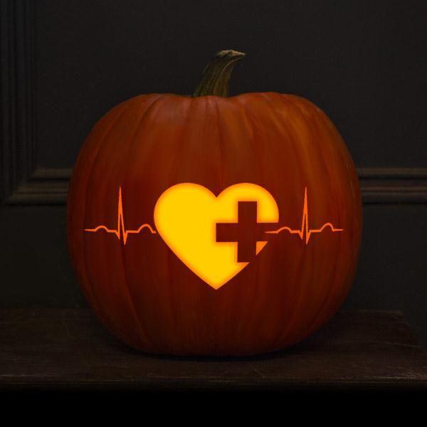 Click through to download this nursing jack o'lantern pattern! #Halloween