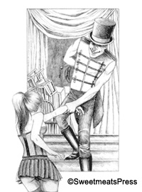 Illustration by John LaChatte for Kay Jaybee's 'The Circus' in the anthology 'Immoral Views'