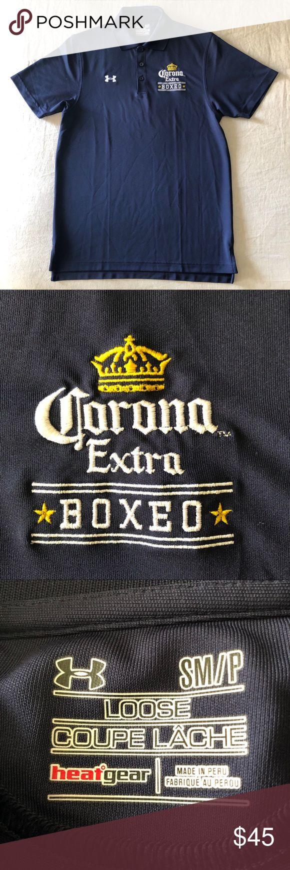 Men's Under Armor Polo w Corona Boxing logo S Men's
