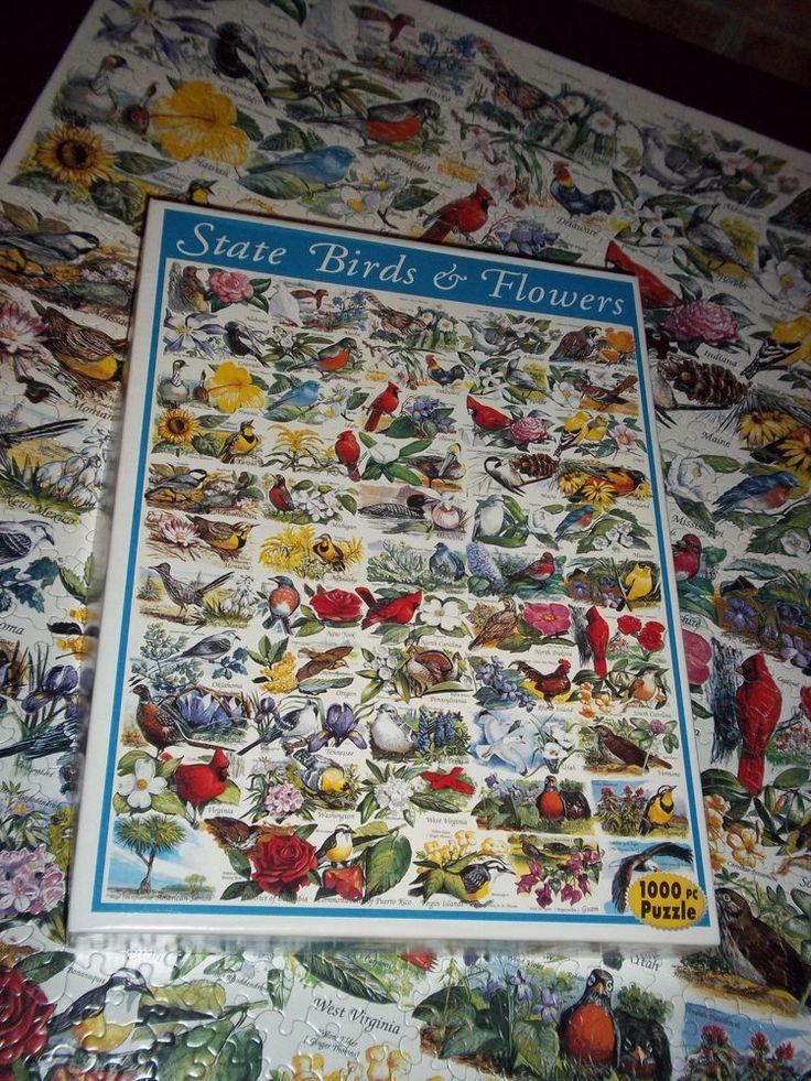 State Birds Flowers White Mountain 1000 Piece Jigsaw