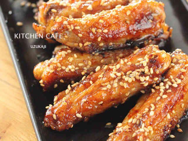 鶏手羽中の甘辛炒めの画像