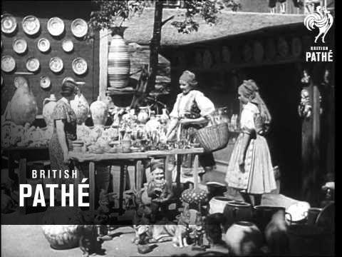 NOSTALGIE. Unikátní záběry Prahy z let čtyřicátých. Lampář i žena nesoucí prádlo k řece -video