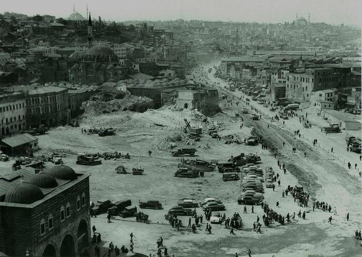 Eski İstanbul: Eminönü İstimlakleri- 1958