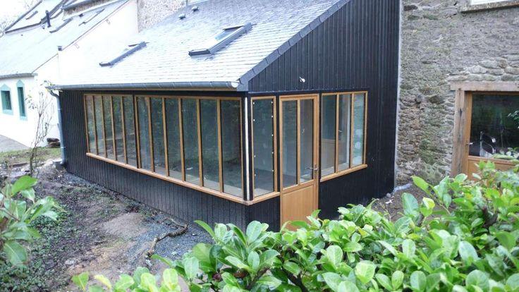 Extension en apentis-  ensemble menuisé style atelier à Saint Briac