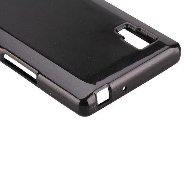 Glitter Shell (Musta) LG Optimus L9 Silikonisuojus