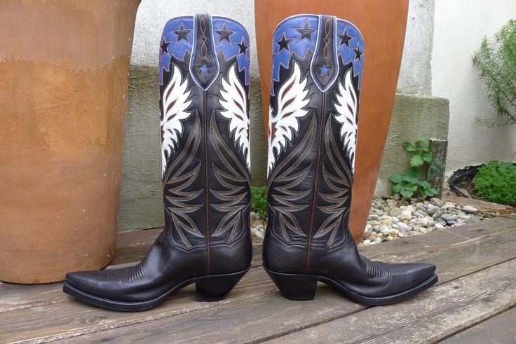 "Custom Cowboy Boots, ""The Phoenix"" handmade by Legendary Boot Co., El Paso Texas"