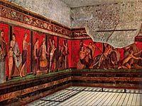 Seinämaalaus Pompeijin Mysteeriohuvilasta, 50 eaa, antiikin Rooma